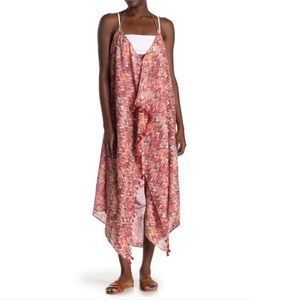 POOL TO PARTY Chevron Print Maxi Cover-Up